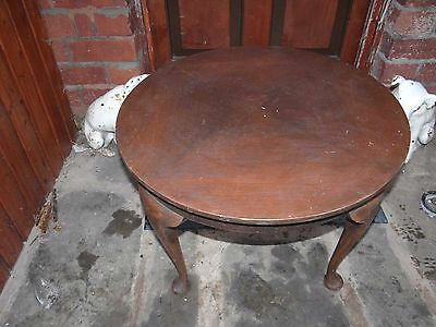 Vintage Wooden Table Round Fat Shape Coffee/Side Table