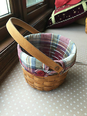 Longaberger small fruit basket combo with cloth and plastic liners