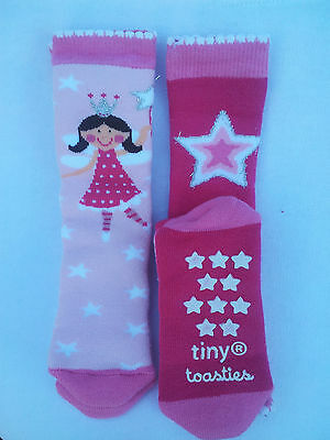 Totes Toasties Tots Girls Slipper Sox 1-3 Yrs Slip Resistant/twin Pack/ New