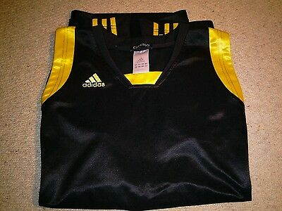 Mens Adidas Clima 365 Sleeveless Running Top, Black/Gold, Size XL. Excellent.