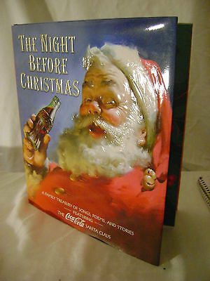 "Coca Cola Santa ""The Night Before Christmas"" Family Treasury Hardcover + Jacket"