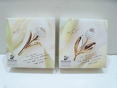 Swarovski Crystal Tulip Brooch   Swarovski Lily Brooch Pin     Mint With Box !!!