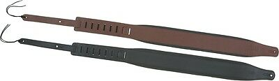 """Levy's 3"""" Padded Leather Guitar Strap Black"""