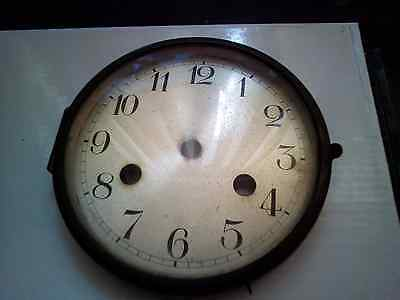 Vintage Clock Face / Mount And Glass Spares/repairs