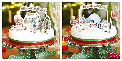 Talking Table Christmas Cake Toppers Pop Top Jolly Holly Penguin Xmas Pudding