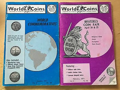 World Coins Magazines, Lot Of 17, 1971-1972