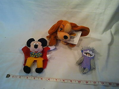 Disneys Lady and the tramp Lady Beanie with 2 Mc Donalds toys