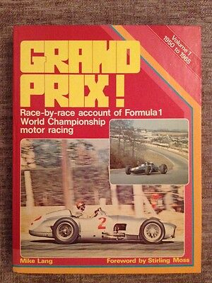 Grand Prix Volume 1 1950 To 1965 Book By Mike Lang In Very Good Condition