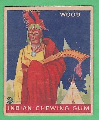 1933 Goudey Indian Chewing Gum #210 Wood - Original