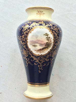 Antique Coalport Signed Vase By E O Ball,landscape Painted,perfect Condition 14C