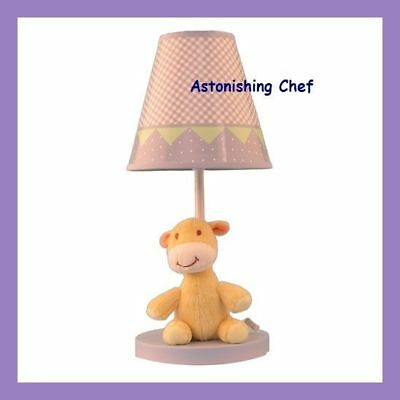 Plush Zoo Nursery Lamp With Matching Shade New Baby