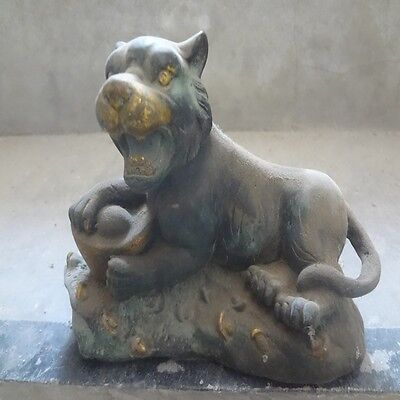 China antique, China ancient handmade Copper gold statue lucky  tiger yuan bao