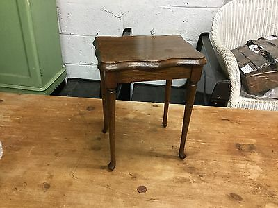 Small Wooden Antique Side Table VGC