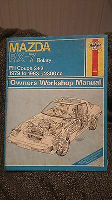 Haynes Manual. Mazda RX7 rotary 1979-1983 FH coupe 2+2