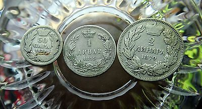 Serbia Collection of 3 silver Coins