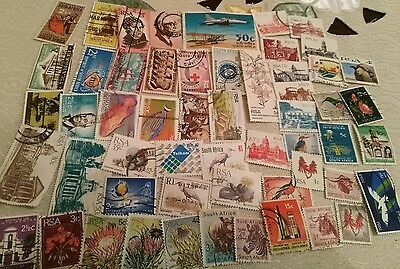 50+ South Africa stamps off paper all different SET M