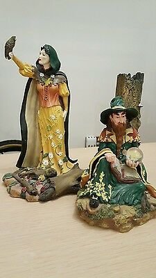 Land of the Dragons figures - Woodland Wizard & Woodland Sorceress