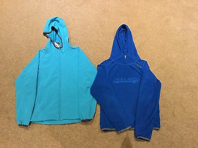 TOG24 Soft Shell Jacket And Fleece Hoodie, Age 11/12, Blue/turquoise, Very Goodd