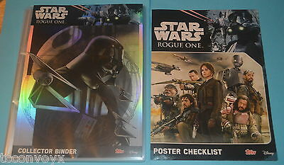 STAR WARS ROGUE ONE UK FULL SET = 212 Trading cards + Jyn Erso LTD in Binder