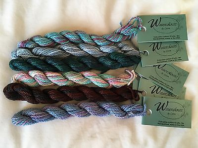 Watercolours by Caron Hand painted 3 ply Embroidery Cotton 6 Skeins
