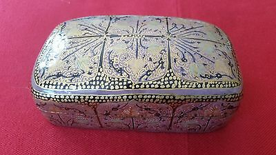 Exquisite Kashmir Hand Painted Jewellery / Trinket Box  Lovely Design