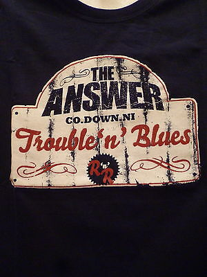 THE ANSWER concert t.shirt-M-Ac/Dc,Led Zeppelin,Thin Lizzy