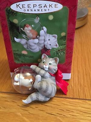 Hallmark Keepsake Christmas Ornament 2000. Mischievous Kitten. #3.  Brand New