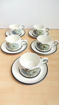 5 Wedgwood Iona Pattern  Cups & Saucers