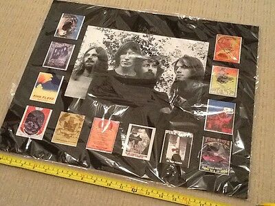 Pink Floyd Photo Display With Concert Posters