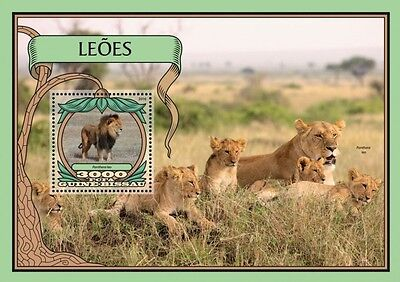 Z08 IMPERFORATED GB16707b GUINEA-BISSAU 2016 Lions MNH