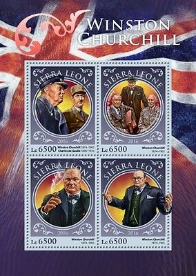 Z08 IMPERFORATED SRL16916a SIERRA LEONE 2016 Winston Churchill MNH