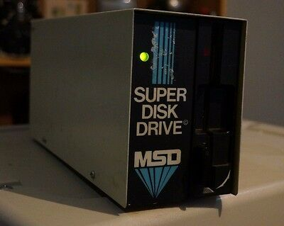 Working MSD Super Disk Drive SD-1 for use with Commodore C64 C128 PET  w/ Box