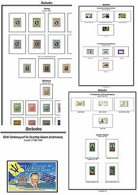 Print a Barbados Stamp Album Fully Annotated & Completely Colour Illustrated