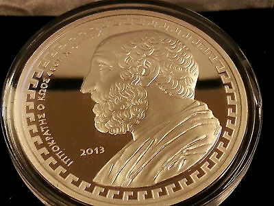 """Griechenland 10 Euro Silber Proof/PP 2013 """" Hippokrates """" - Sehr Selten!!!"""