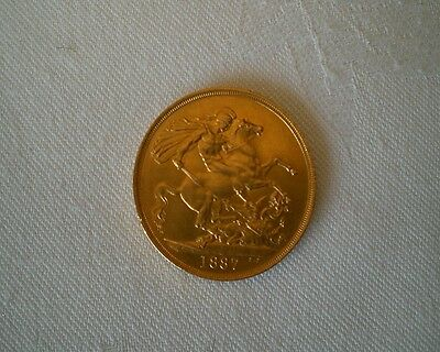 22ct Gold Queen Victoria Jubilee Two Pound Double Sovereign Coin 1887