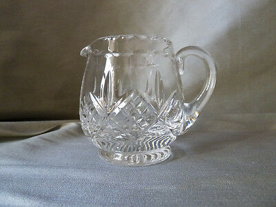 Stuart Crystal Glengarry cut creamer/condiment jug, NOT signed