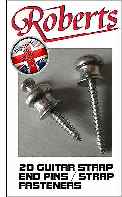 ROBERTS Guitar Strap End Pin BUTTONS 10 sets - (TOTAL 20)