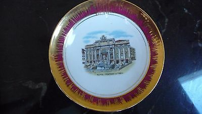"""Vintage Roma-Fontana Di Trevi Italy Collector Plate 5"""""""