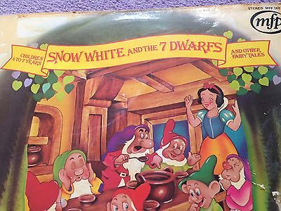 vinyl record -snow white and the 7 dwarfs -vintage- mfp