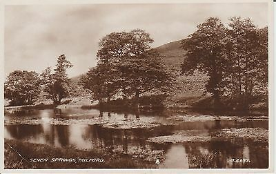 Milford - Seven Springs - Pembrokeshire -  Real Photo Postcard