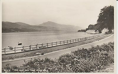 Bala -The Lake And New Road - Merionethshire -  Real Photo Postcard
