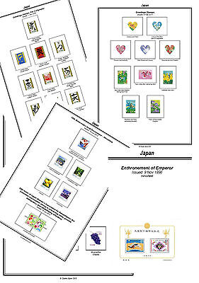 Print a Japan Stamp Album Completely Annotated & Colour illustrated