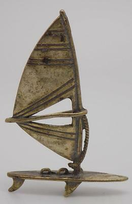 Vintage Solid Silver Windsurf Miniature - Stamped - Made in Italy