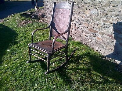 wicker rocking chair early 20th century