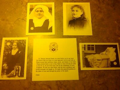 St. Therese MINI RELIC CARD SET with Prayer 4 Relic Cards & 1 Prayer Card Nice.