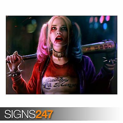 MARGOT ROBBIE AS HARLEY (AB080) MOVIE POSTER - Poster Print Art A0 A1 A2 A3