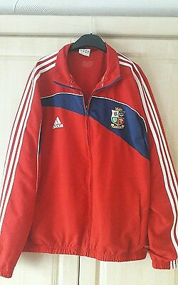 British and Irish Lions South Africa 2009 Adidas Red Full Zip Trg Top