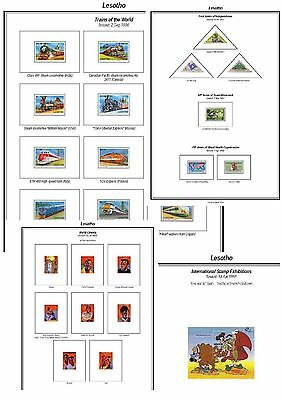Print a Lesotho Stamp Album Fully Annotated & Completely Colour Illustrated