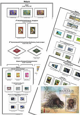 Print a Malaysia Stamp Album Fully Annotated & Completely Colour Illustrated