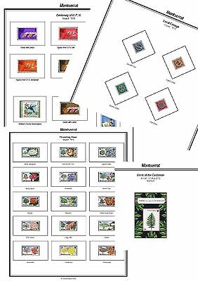 Print a Montserrat Stamp Album Fully Annotated & Completely Colour Illustrated